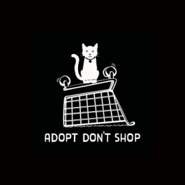 Adopt Dont Shop Cat Decal