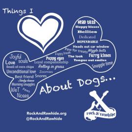 Things I Love About Dogs tee art